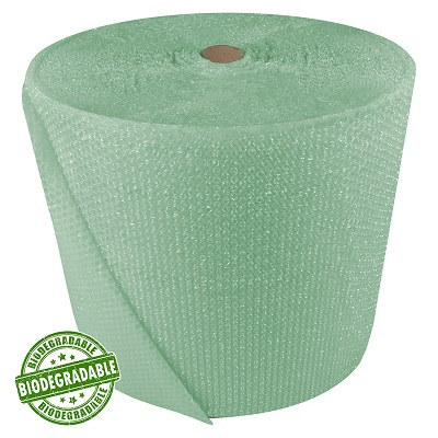500mm x 2 x 75M Rolls of Green Biodegradable Eco Friendly Bubble Wrap